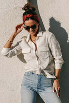 Bray Button Down Top in Cream - FINAL SALE