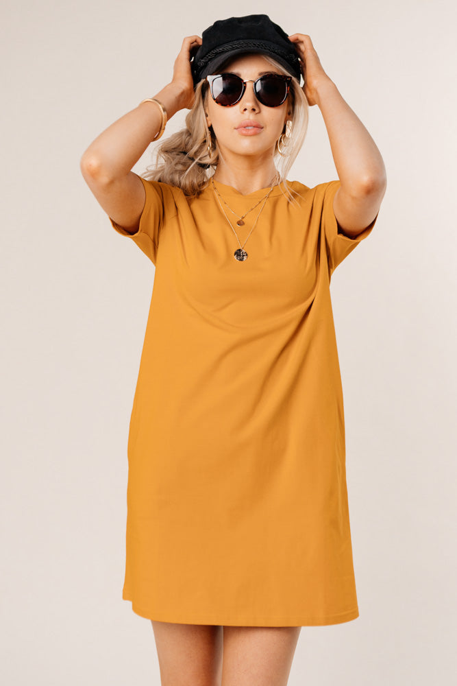mustard dress bohme