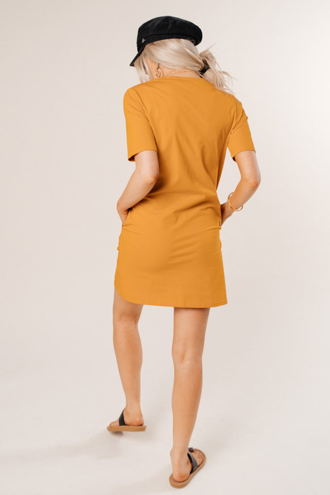 mustard t-shirt dress bohme