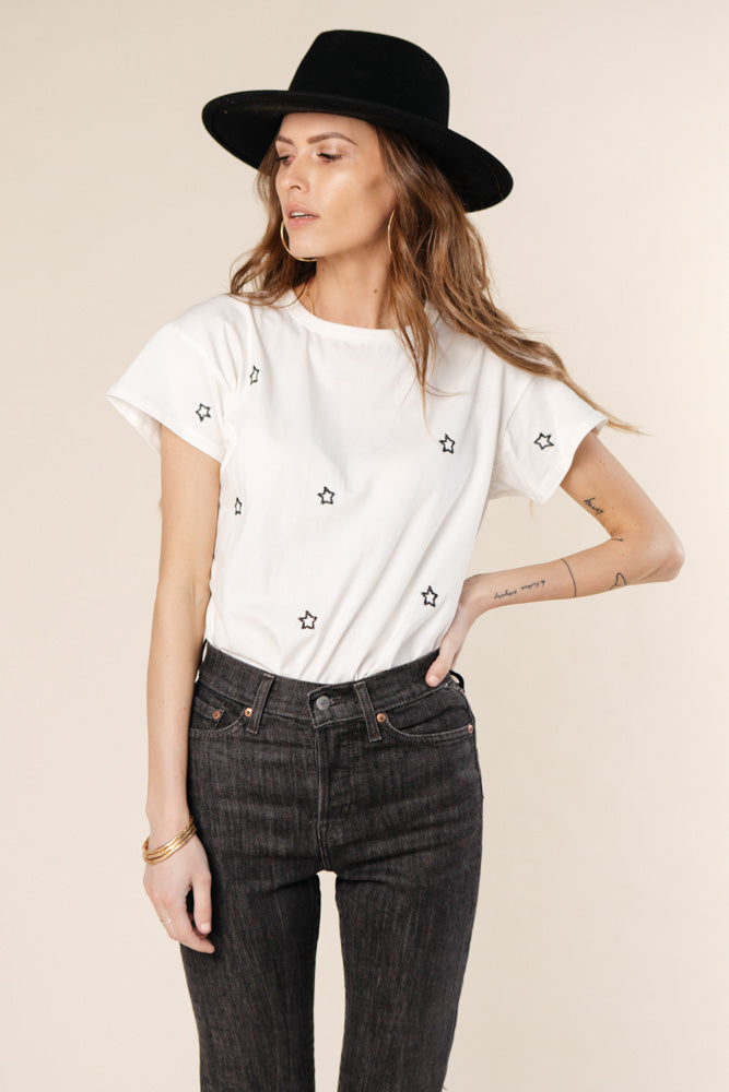 Vega Embroidered Star Tee