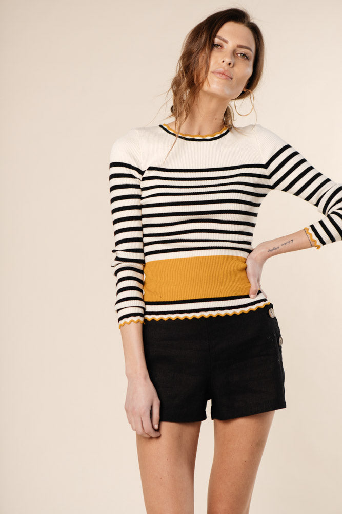 Greer Striped Long Sleeve