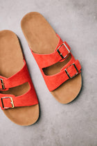 red sandals bohme