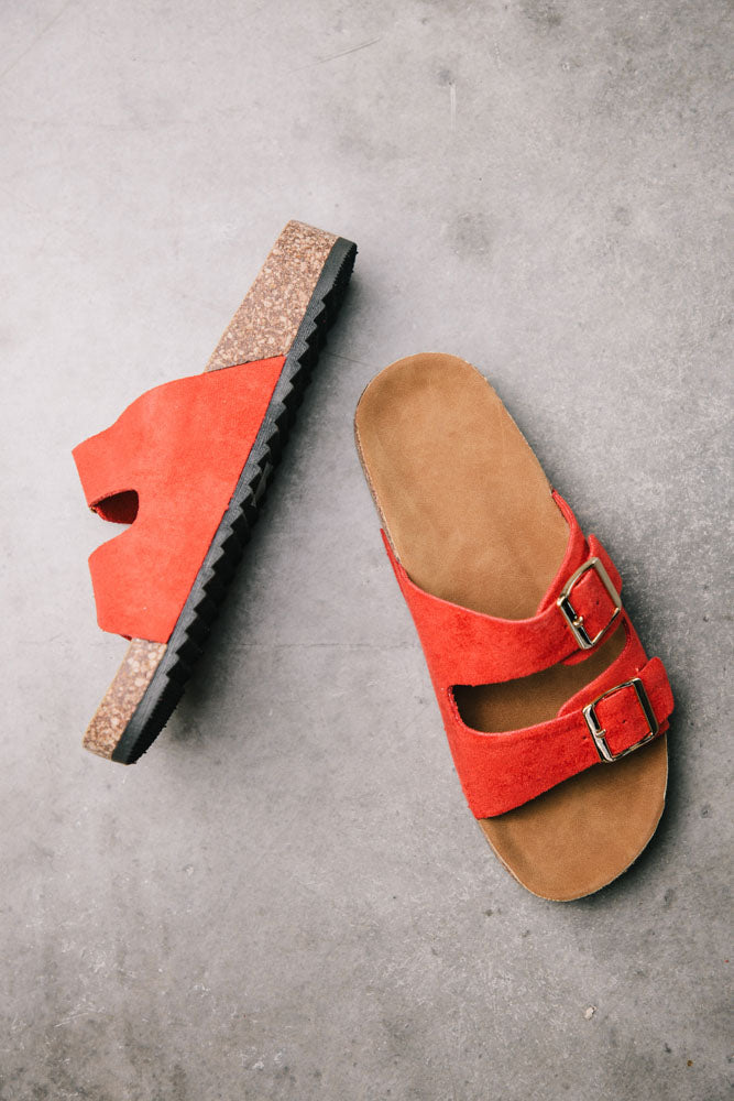 Buckle Sandals in Red bohme