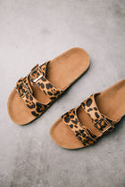 Buckle Sandals in Leopard bohme