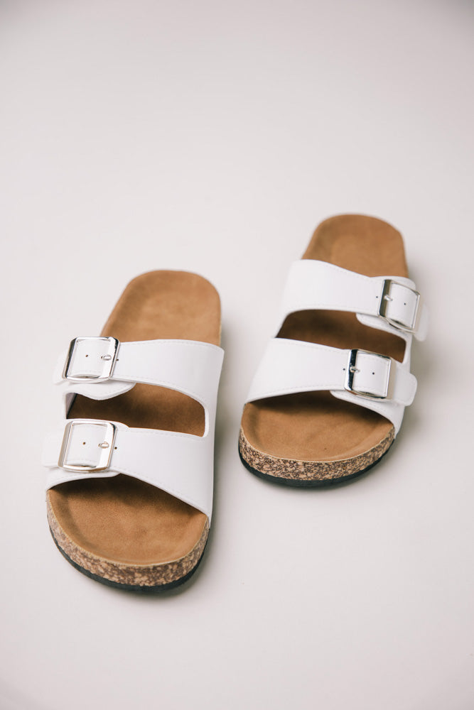 Buckle Sandals in White bohme