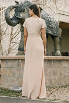 Myla Lace Maxi Dress in Taupe-FINAL SALE