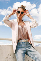Brooke Blazer in Blush