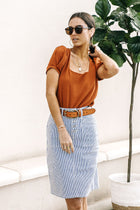 Debby Square Neck Top in Rust