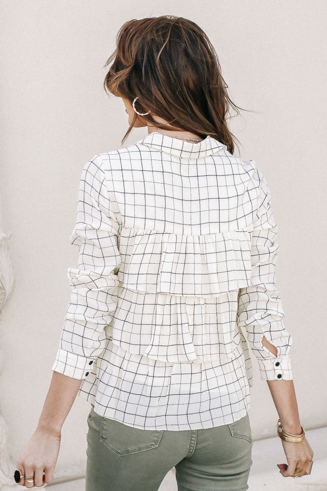 Peplum Button Down Top