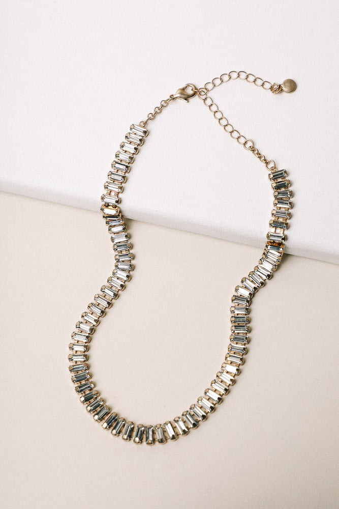 Rees Jewel Necklace in Clear