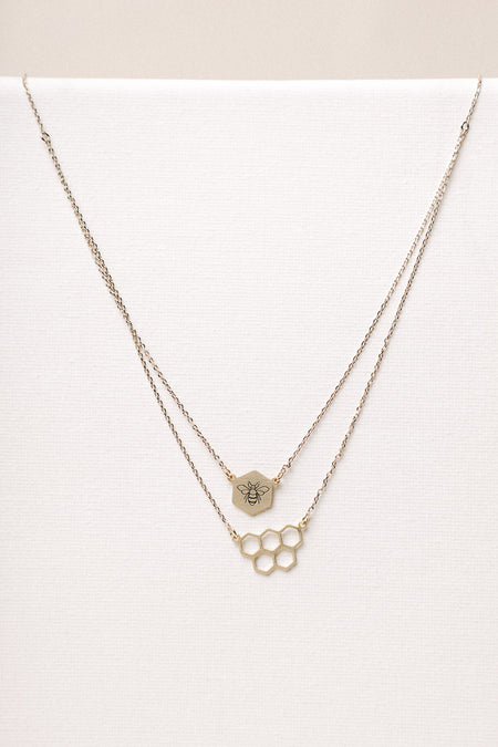 Honeybee Pendant Necklace