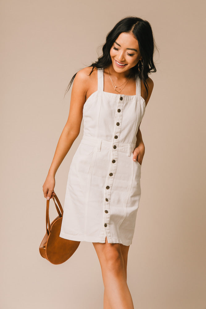 white denim dress bohme