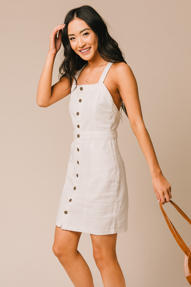 white button down dress bohme