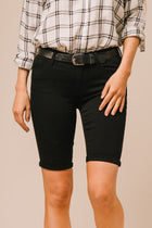 Abbie Black Bermuda Shorts