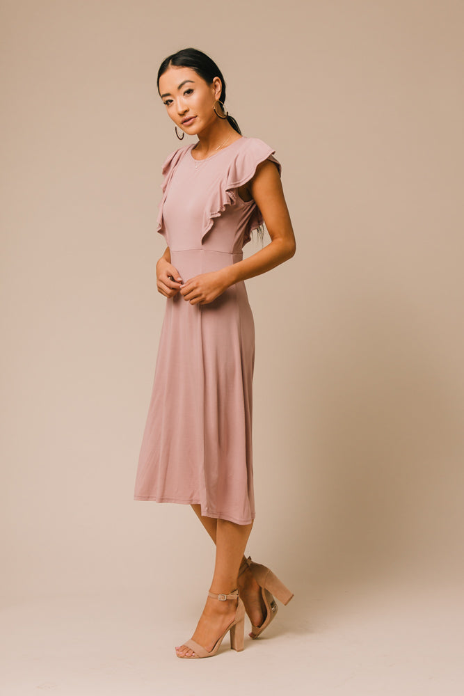 mauve dress bohme