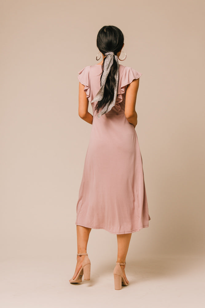 pink midi dress bohme