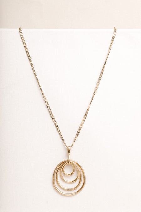 Topographic Gold Necklace