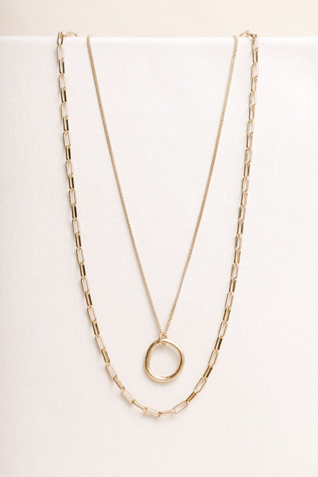Golden Chain Necklace Set