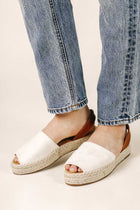 Olivia Espadrille Sandals in Beige