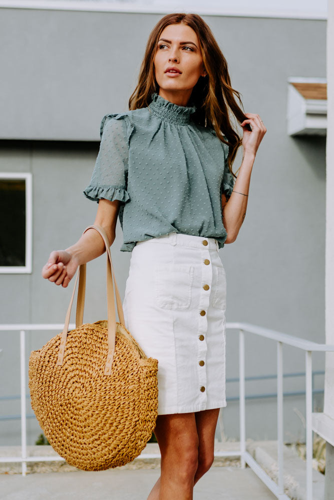 Vienna Mock Neck Blouse