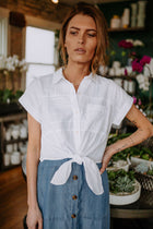 Rylan Button Down Crop Top