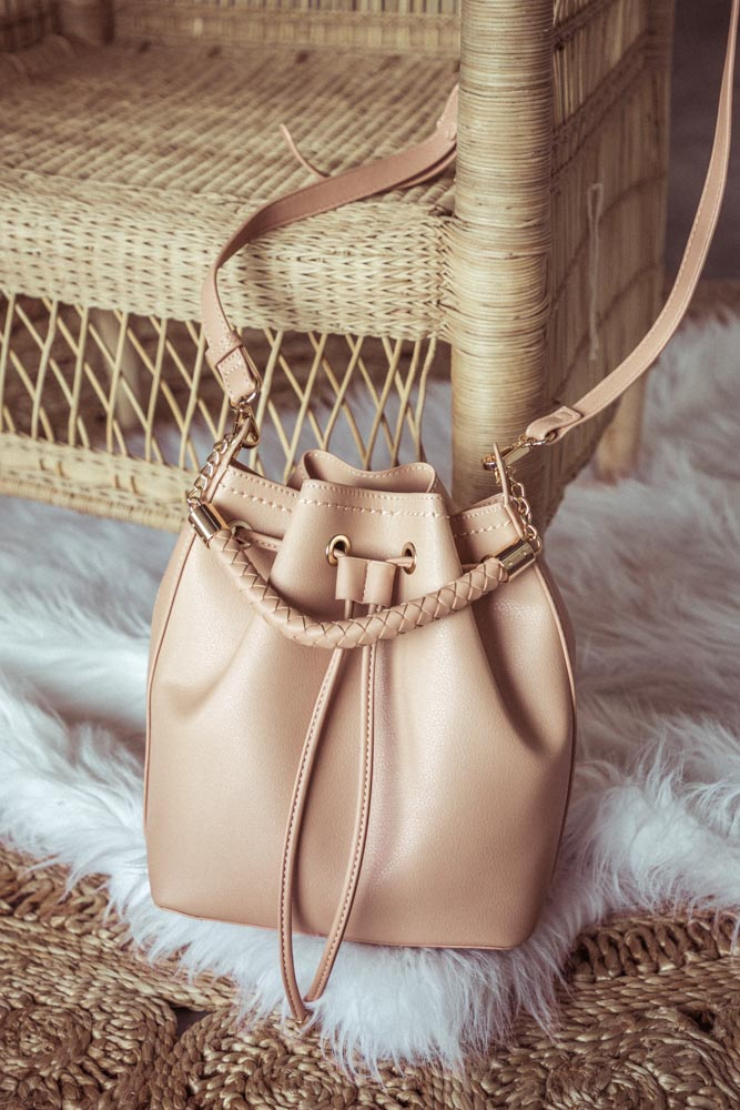 Dylan Bucket Bag in Blush