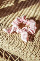 Maleh Striped Scrunchie in Pink