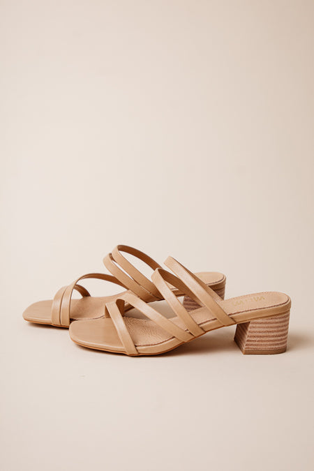 Belle Strappy Heels in Tan