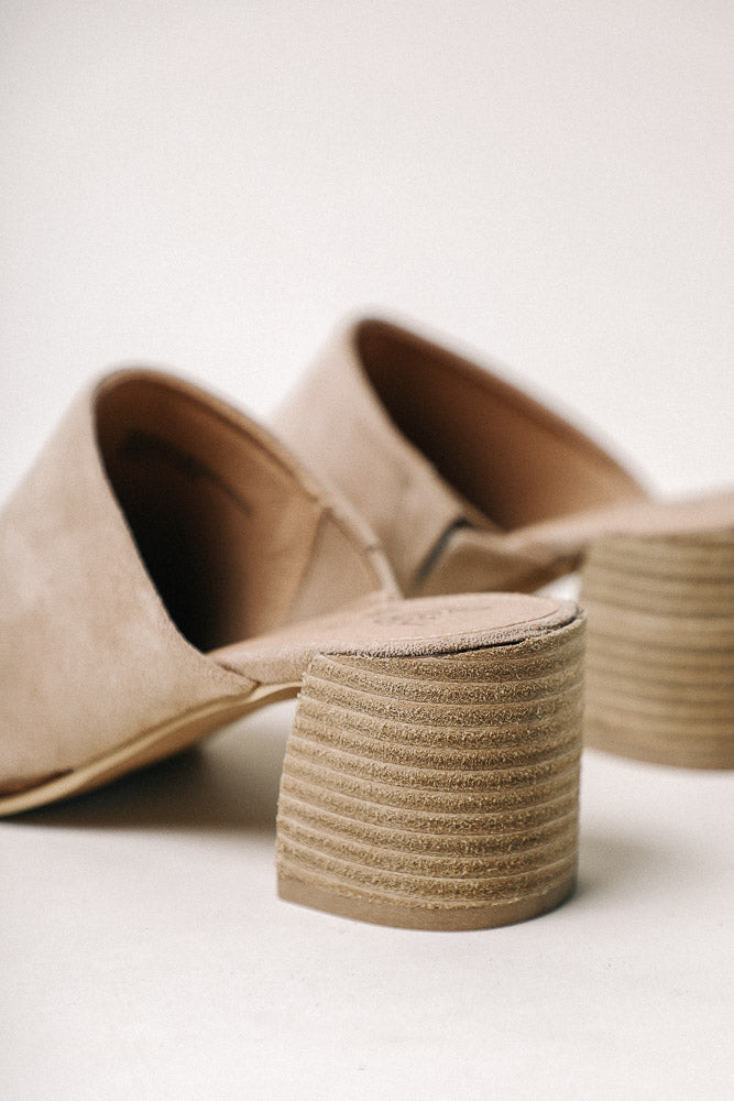 Stephanie Mules in Taupe