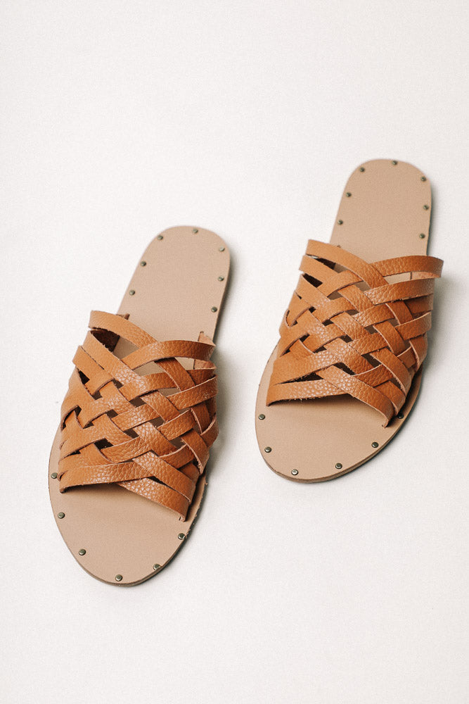 Eli Woven Sandals in Brown