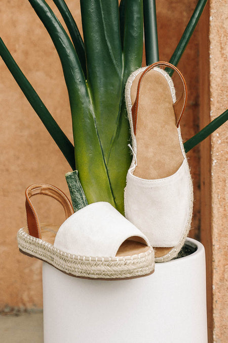 Olivia Espadrille Sandals in Beige - FINAL SALE
