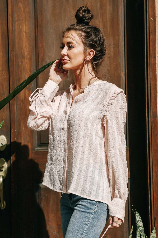 Rosie Textured Button Down