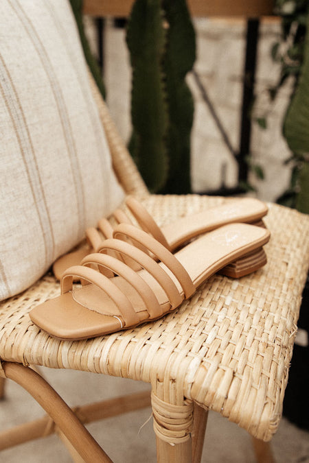 PREORDER - Flora Strap Sandal in Nude
