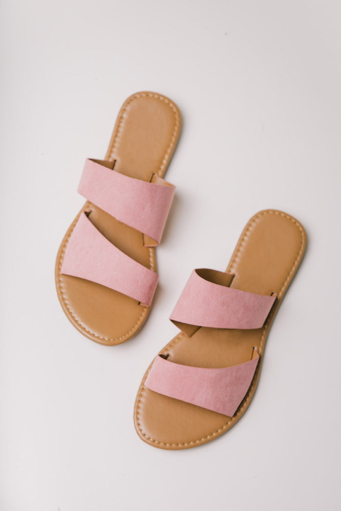 Aphrodite Double Strap Sandals in Pink