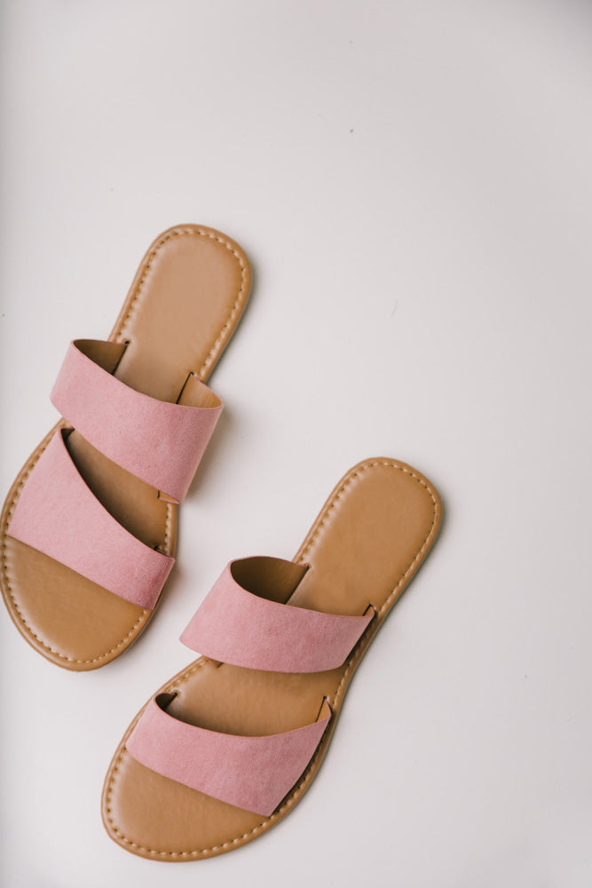 Aphrodite Double Strap Sandals in Pink bohme