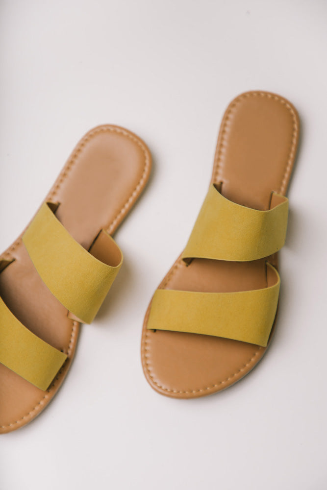 Aphrodite Double Strap Sandals in Yellow bohme
