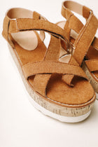 Sara Platform Sandals in Camel