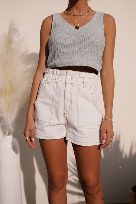 High Waisted Stitched Shorts