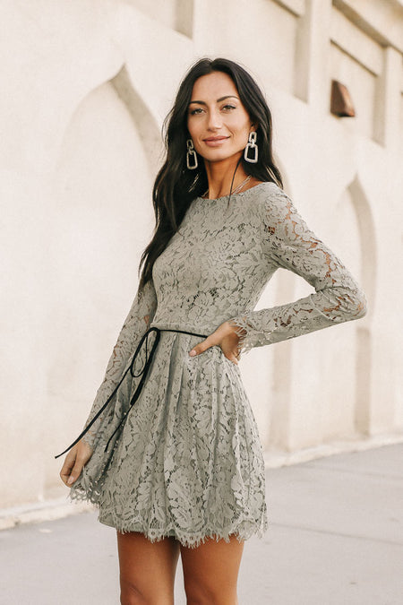 Marissa Lace Dress in Sage