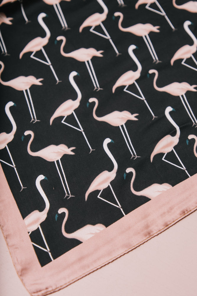 Flamingo Silk Scarf