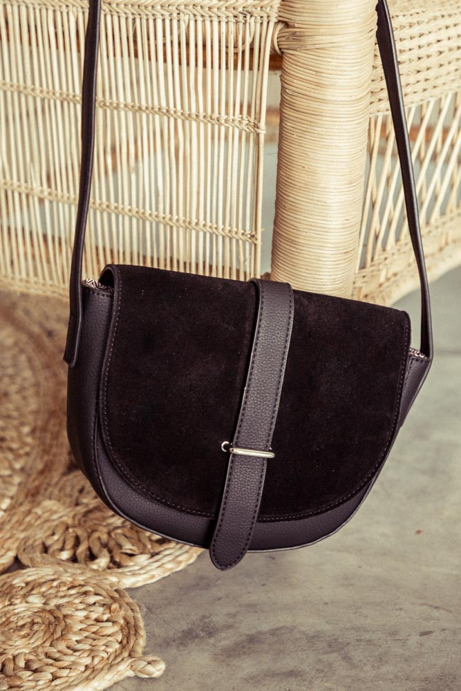 Dawson Mini Shoulder Bag in Black
