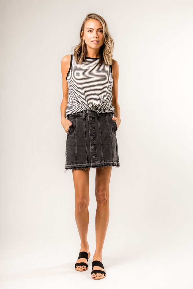 Mariah Dark Denim Mini Skirt