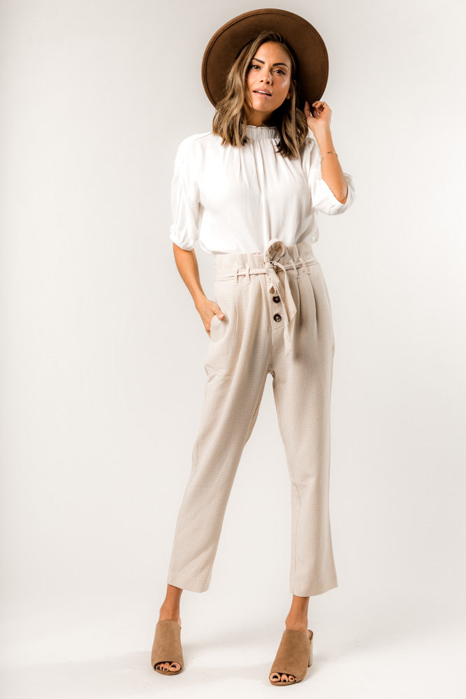 Wren Gingham Trousers