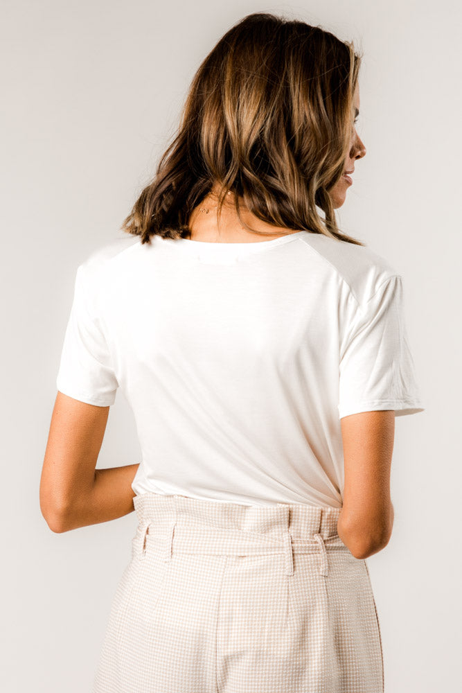The Basics Tee in Ivory