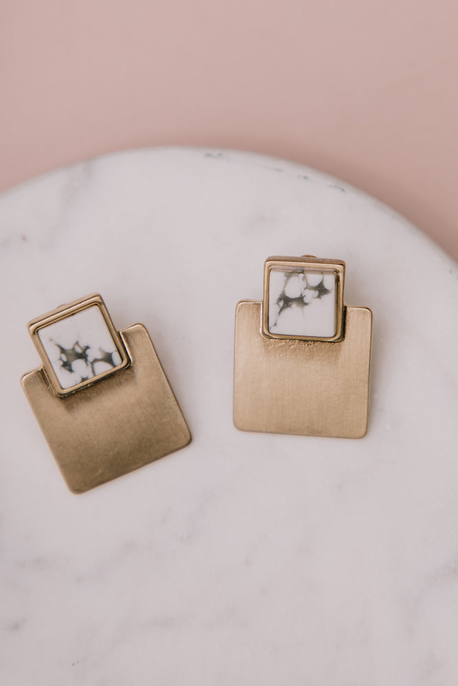Quite the Square Earrings in White