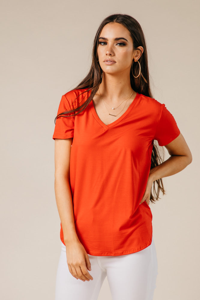 The Basics Tee in Red