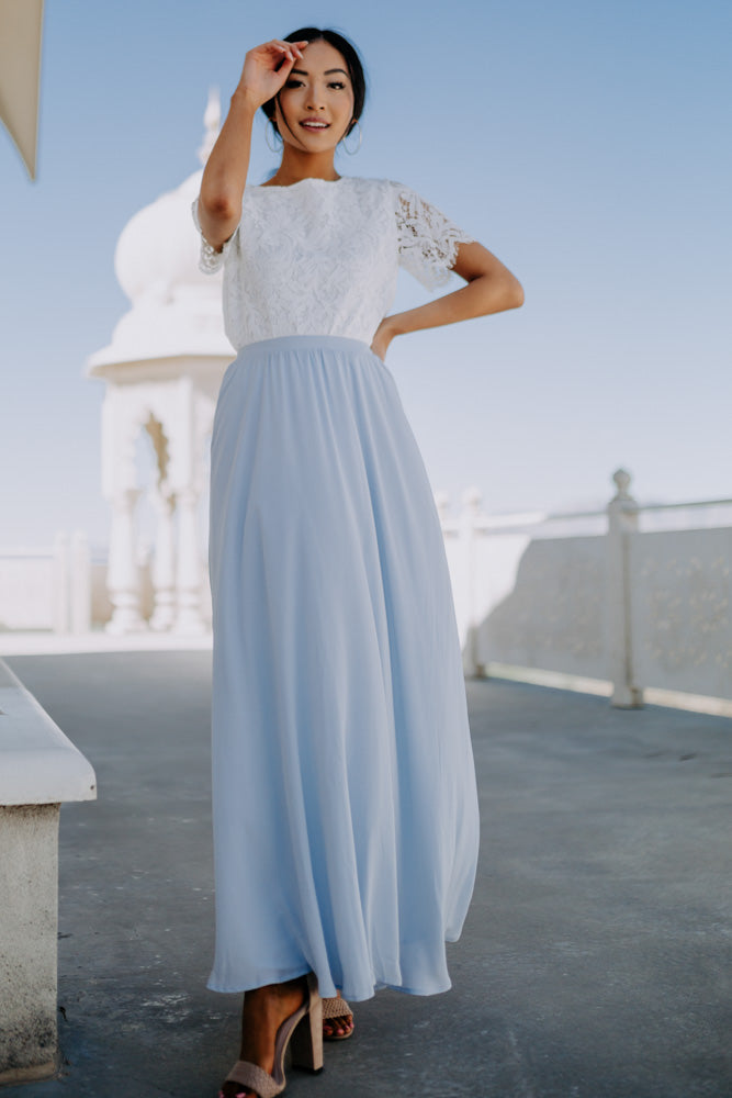 Penelope Maxi Skirt in Blue