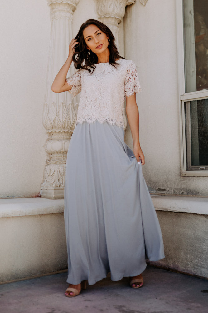 Penelope Maxi Skirt in Grey