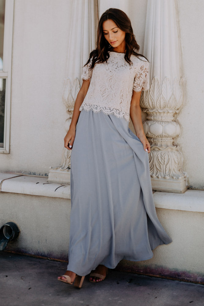 Penelope Maxi Skirt in Grey - FINAL SALE