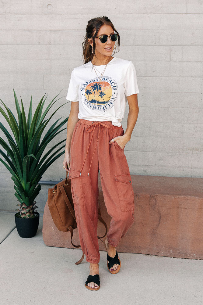 Tencel Joggers in Rust